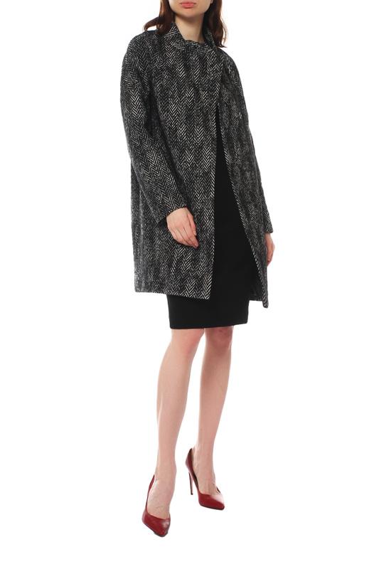 Пальто женское Paradox Л-356 ТВИД-ТМ-0012 черное 42-170