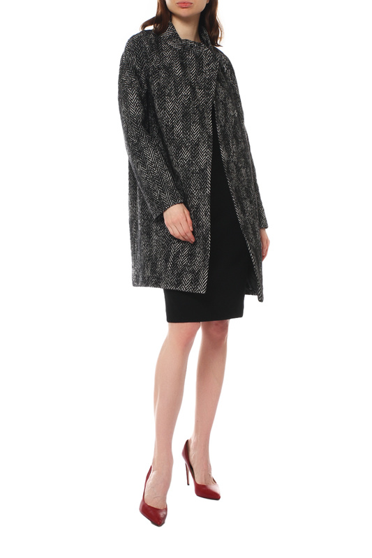 Пальто женское Paradox Л-356 ТВИД-ТМ-0012 черное 46-170