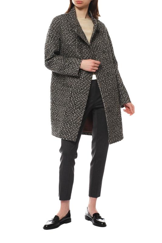 Пальто женское Paradox Л-356 ТВИД-ТМ-14241 коричневое 52-170