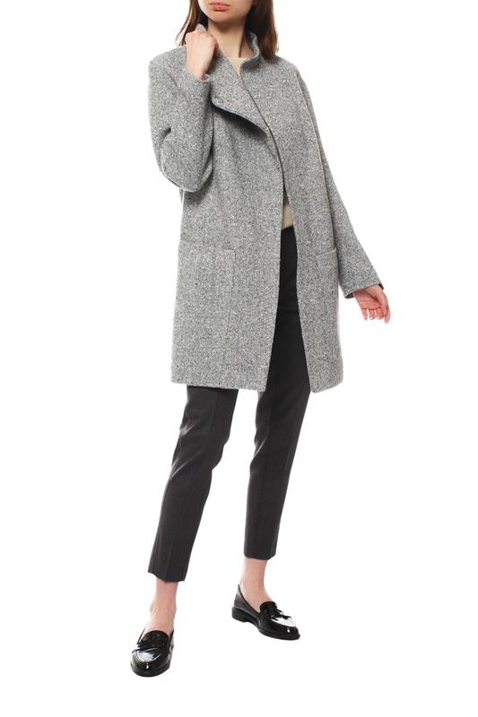 Пальто женское Paradox Л-308 ТВИД-ТМ-111 серое 52-170