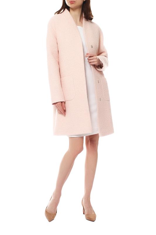 Пальто женское Paradox Л-306 БУКЛЕ-RP-1000 розовое 50-170