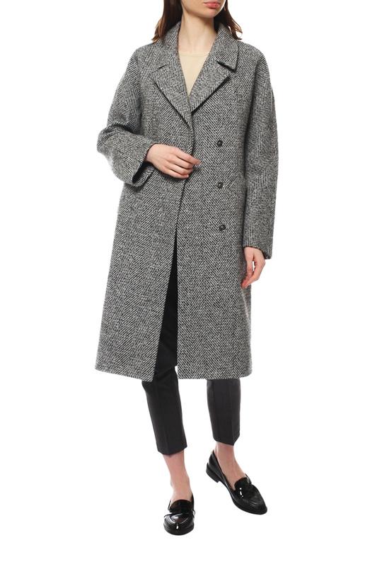 Пальто женское Paradox Л-338 ТВИД-1015 серое 48-170