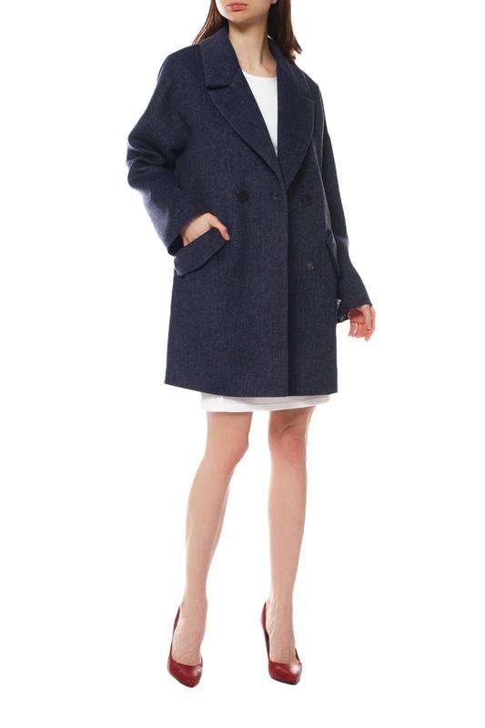 Пальто женское Paradox Л-433 ТВИД-1768 синее 50-170