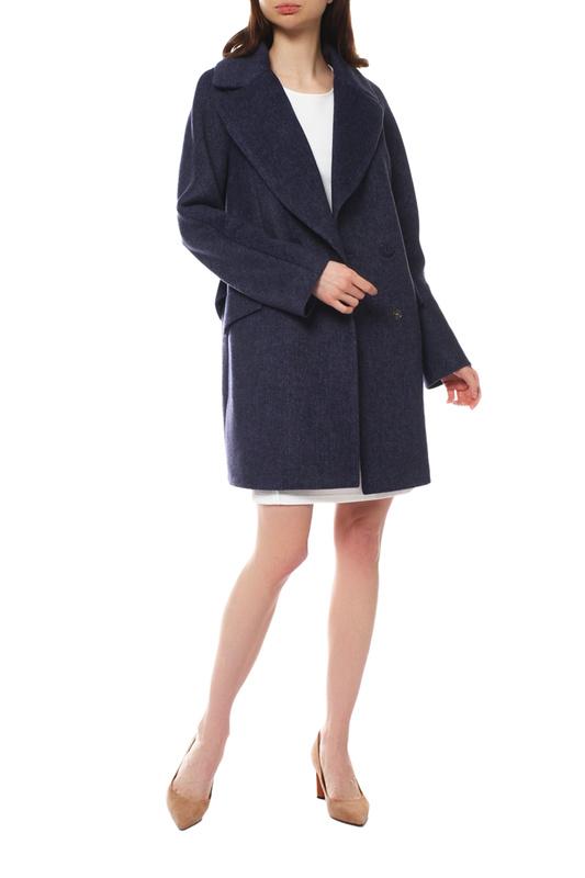 Пальто женское Paradox Л-385 ТВИД-1768 синее 50-170