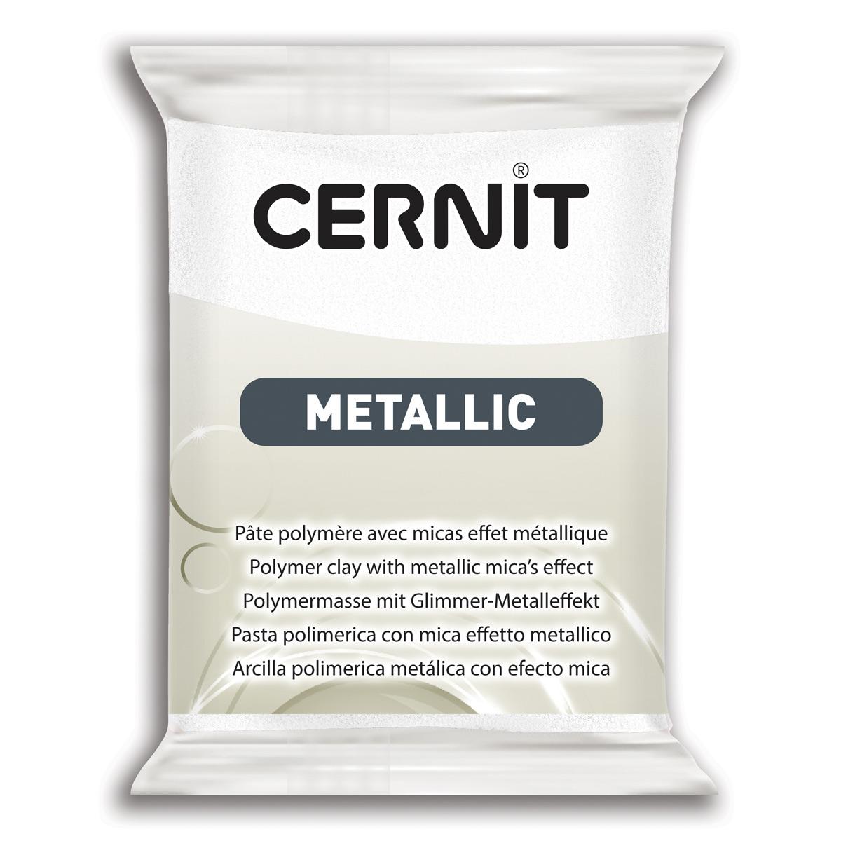 Купить 7724713, Пластика Cernit Metallic, 56 грамм, цвет 085 перламутровый, арт. CE0870056,
