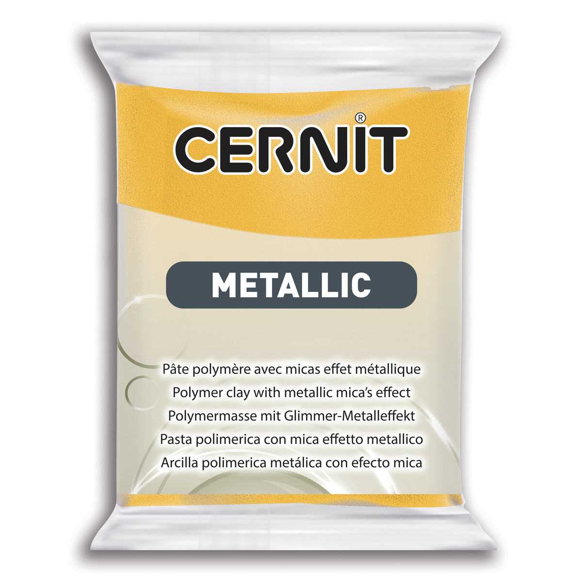 Купить 7724713, Пластика Cernit Metallic, 56 грамм, цвет 700 желтый, арт. CE0870056,
