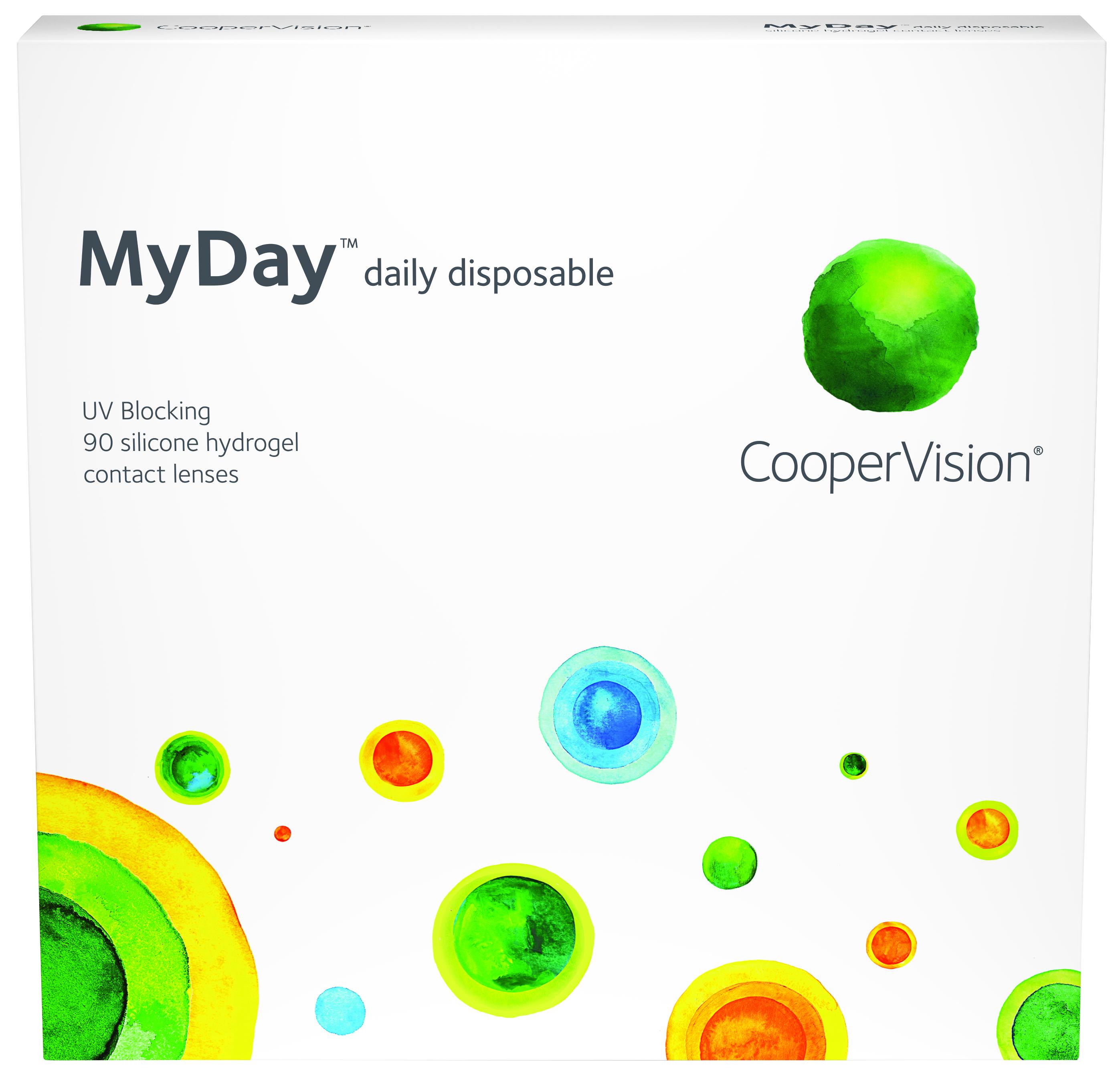 Купить Контактные линзы MyDay daily disposable 90 линз R 8, 4 -11, 50, Avaira