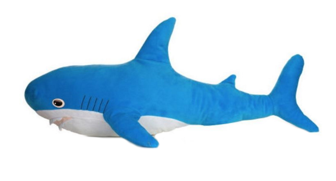 Мягкая игрушка Акула. Большая, цвет голубой MALVINA 15.139.2