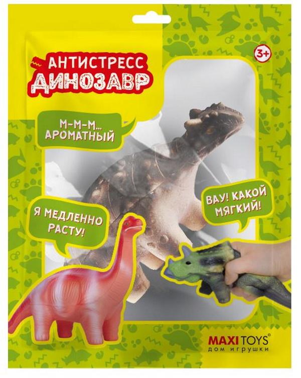 Игрушка-антистресс Анкилозавр, 14 см MaxiToys MT-GP0720216