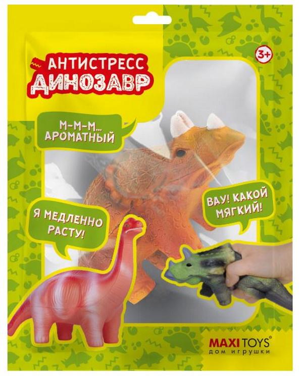 Игрушка-антистресс Трицератопс, 14 см MaxiToys MT-GP0720218