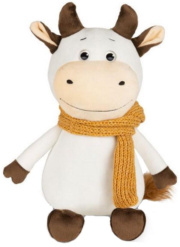 Мягкая игрушка Бычок Афоня в шарфе, 23 см Maxitoys Luxury MT-MRT022024-23