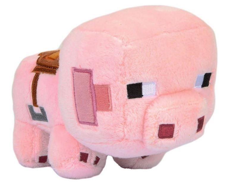 Мягкая игрушка Happy Explorer Saddled Pig, 16 см Minecraft TM03312