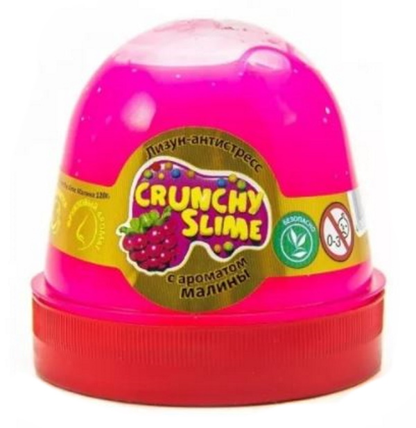 Слайм Mr.Boo Crunchy slime. Малина, 120 грамм ФФ80085