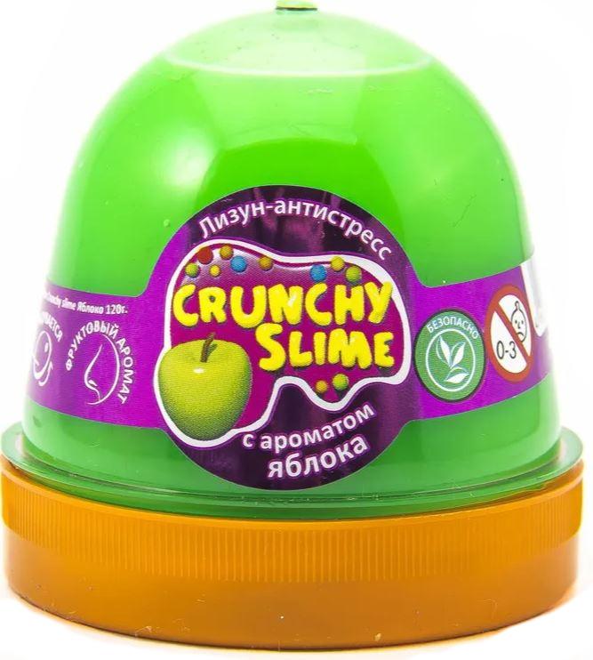 Слайм Mr.Boo Crunchy slime. Яблоко, 120 грамм ФФ80088