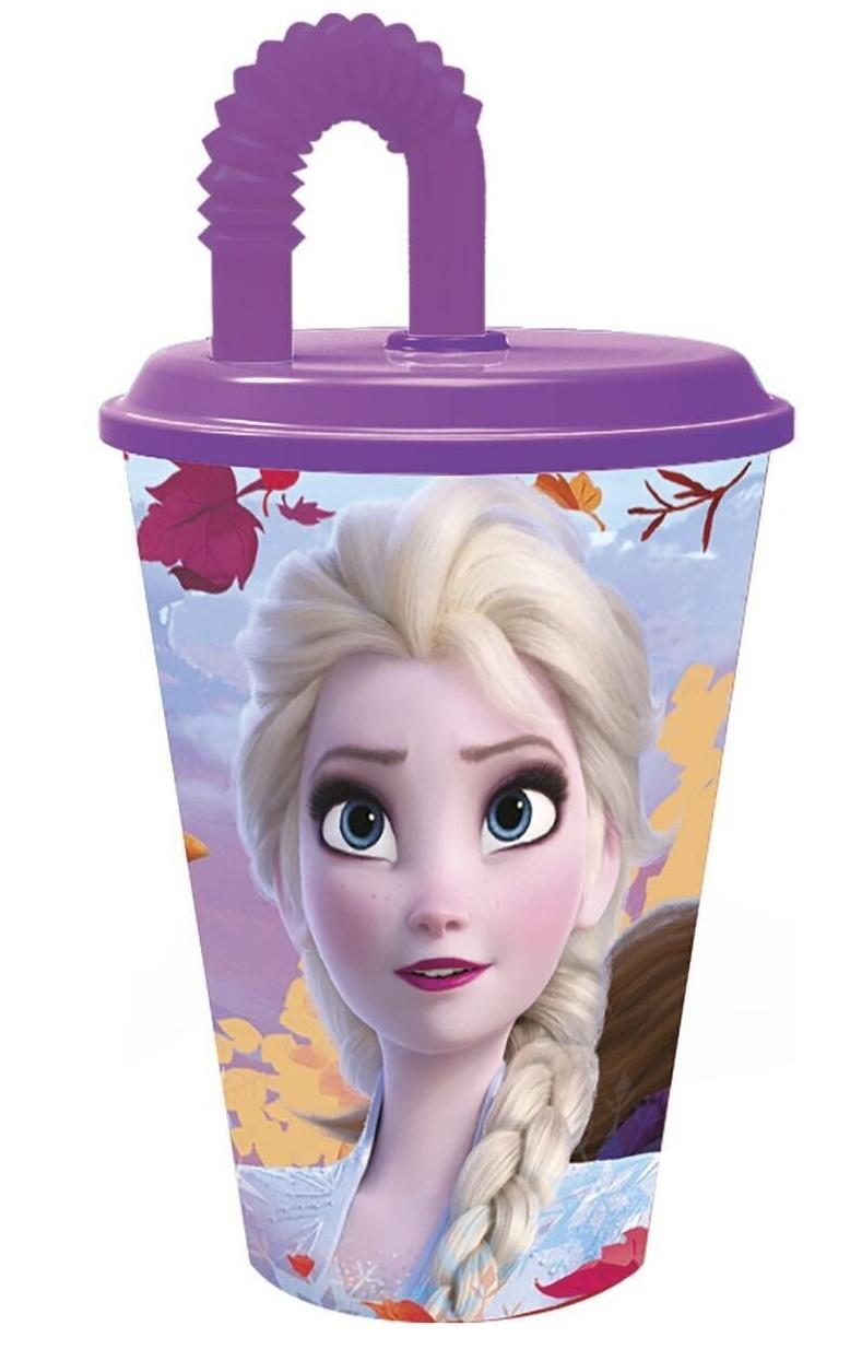 Купить Стакан пластиковый спортивный с соломинкой Холодное сердце 2, 430 мл ND Play 35030,