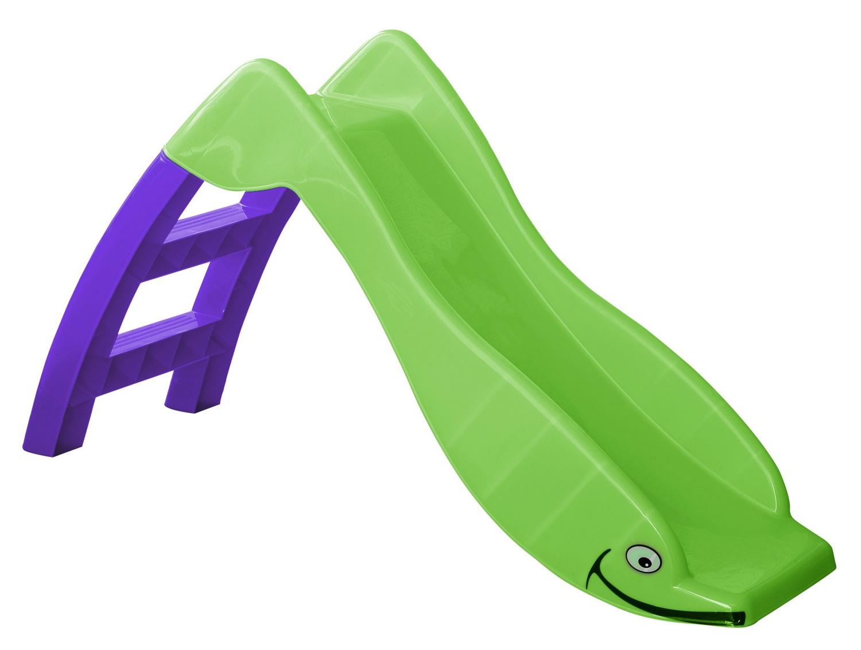 Горка игровая Дельфин (цвет зеленый/фиолетовый) PalPlay ИГ-608