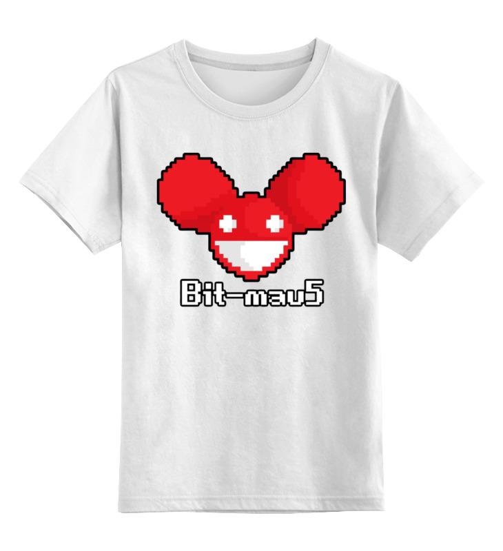 Детская футболка Printio Bit-mau5 цв.белый р.152 0000002923765 по цене 790