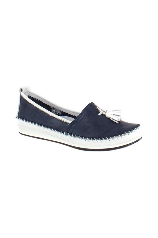 Мокасины женские HCS 58421 синие 39 RU