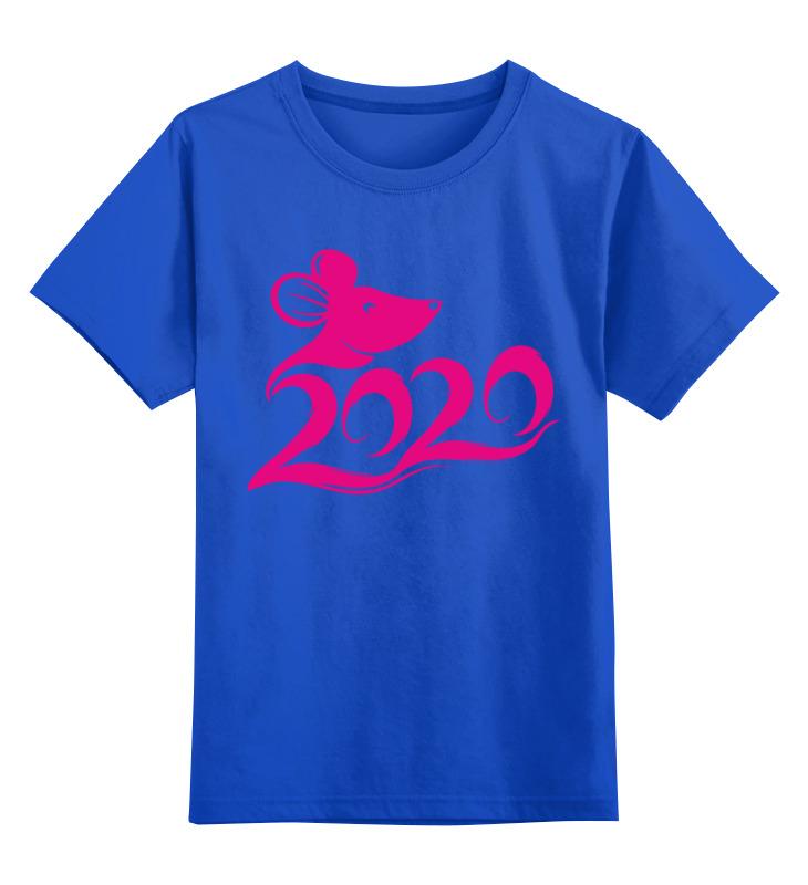 Купить 0000003062675, Детская футболка Printio Мышонок цв.синий р.140,