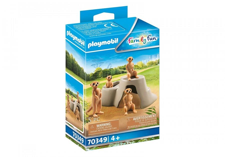 Купить PM70349, Конструктор Playmobil Семья сурикатов 70349,