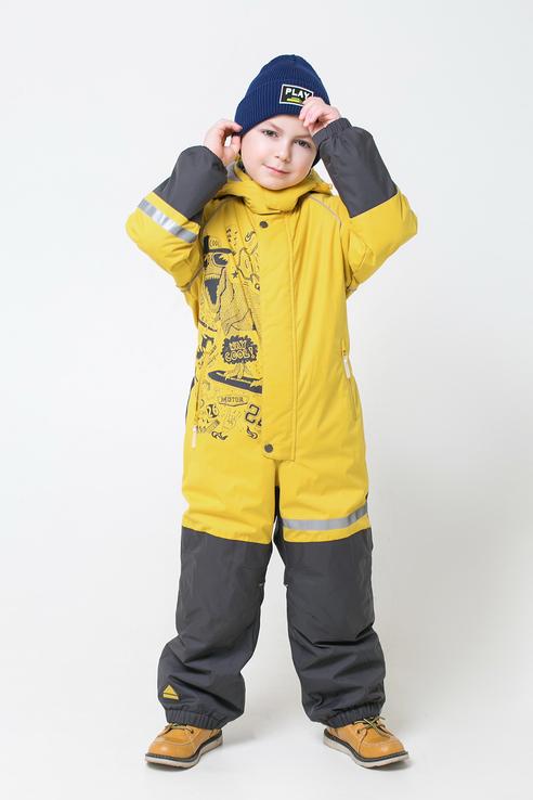 Комбинезон для мальчиков Crockid цв. желтый р-р. 140 ВК 60048/2