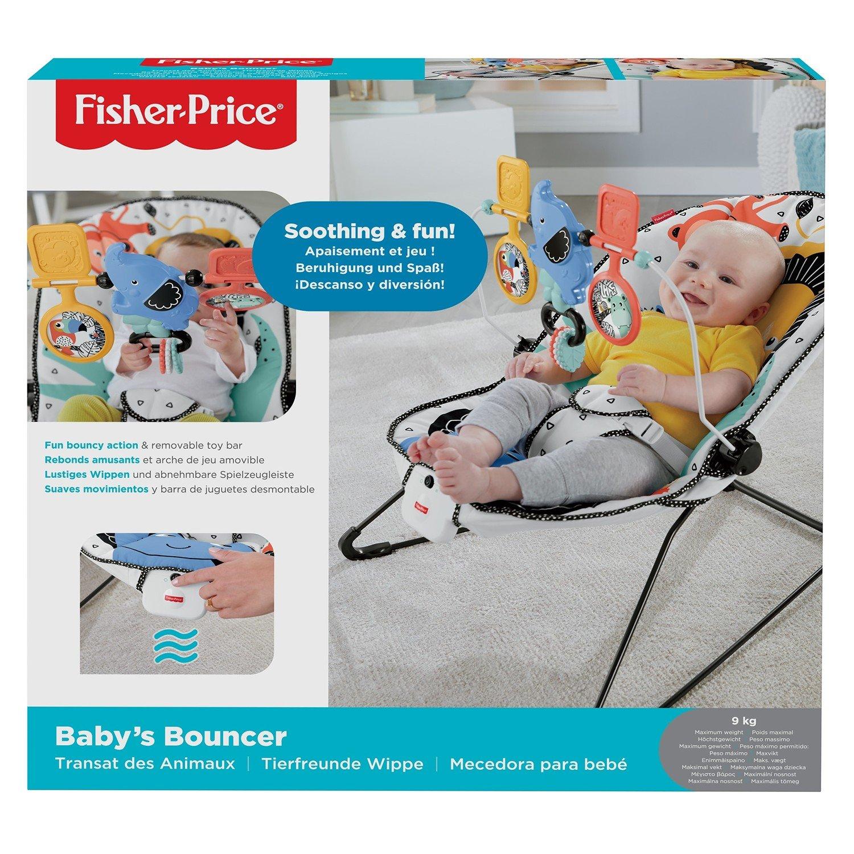 Красочное детское кресло качалка Mattel Fisher Price