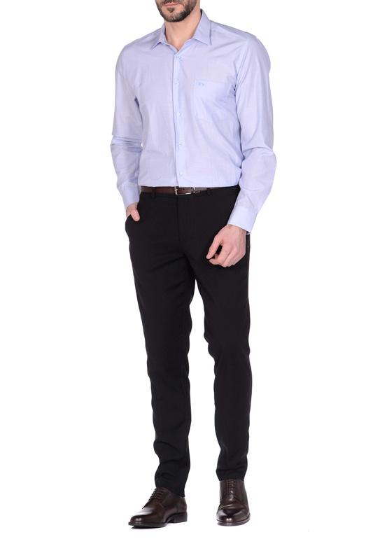 Рубашка мужская KarFlorens FILAFIL-02 голубая M