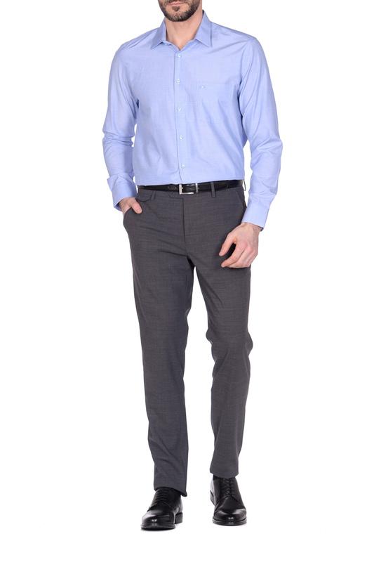Рубашка мужская KarFlorens FILAFIL-03 голубая M