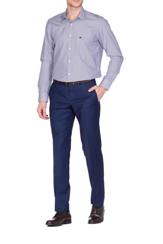 Рубашка мужская KarFlorens 501099-01 синяя M