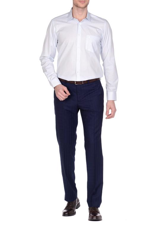 Рубашка мужская KarFlorens 501099-02 голубая L