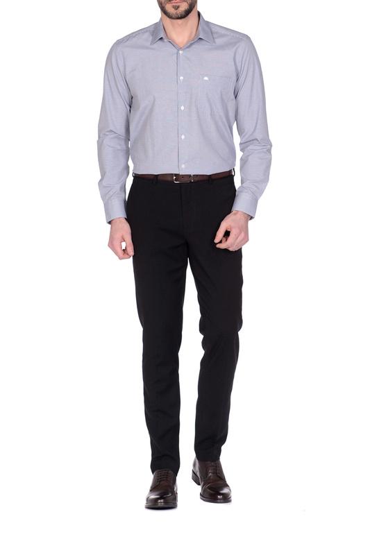 Рубашка мужская KarFlorens 71490-03 синяя M