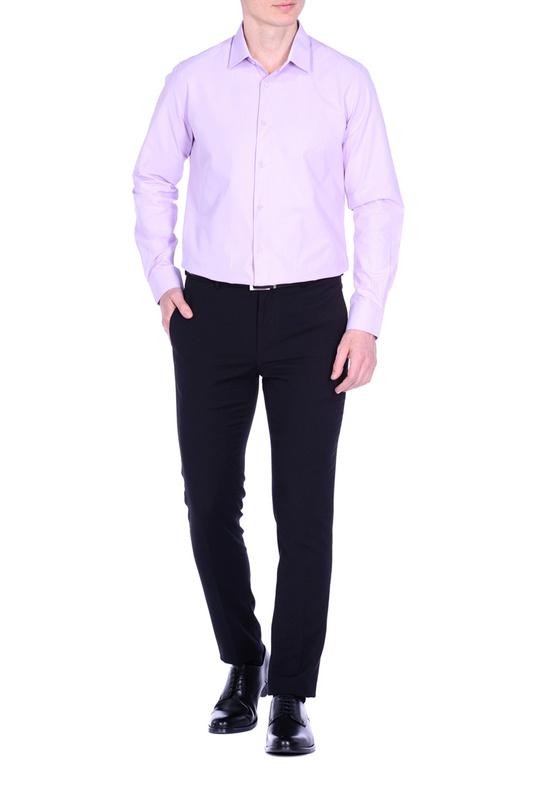 Рубашка мужская KarFlorens CVC фиолетовая M