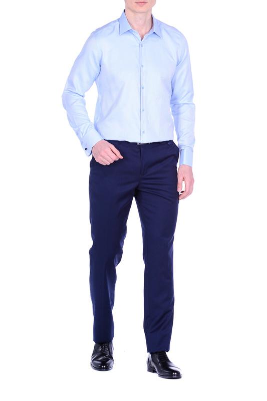 Рубашка мужская KarFlorens ERKA-05 голубая S