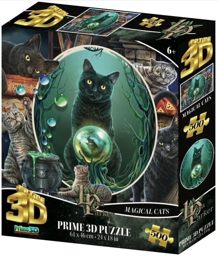 Пазл Super 3D Коллаж Магия кошек, 500 деталей Prime3D 32564, Prime 3D,  - купить со скидкой