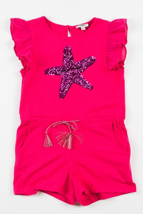 Купить BK498001, Комбинезон для девочки BAON, цв.розовый, р-р 122, Повседневные комбинезоны для девочек