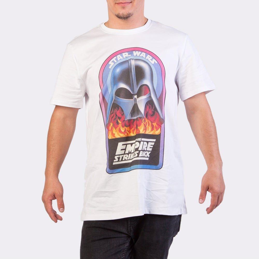 Футболка мужская Легендариум Звездные войны Дарт Вейдер в огне белая XXL фото