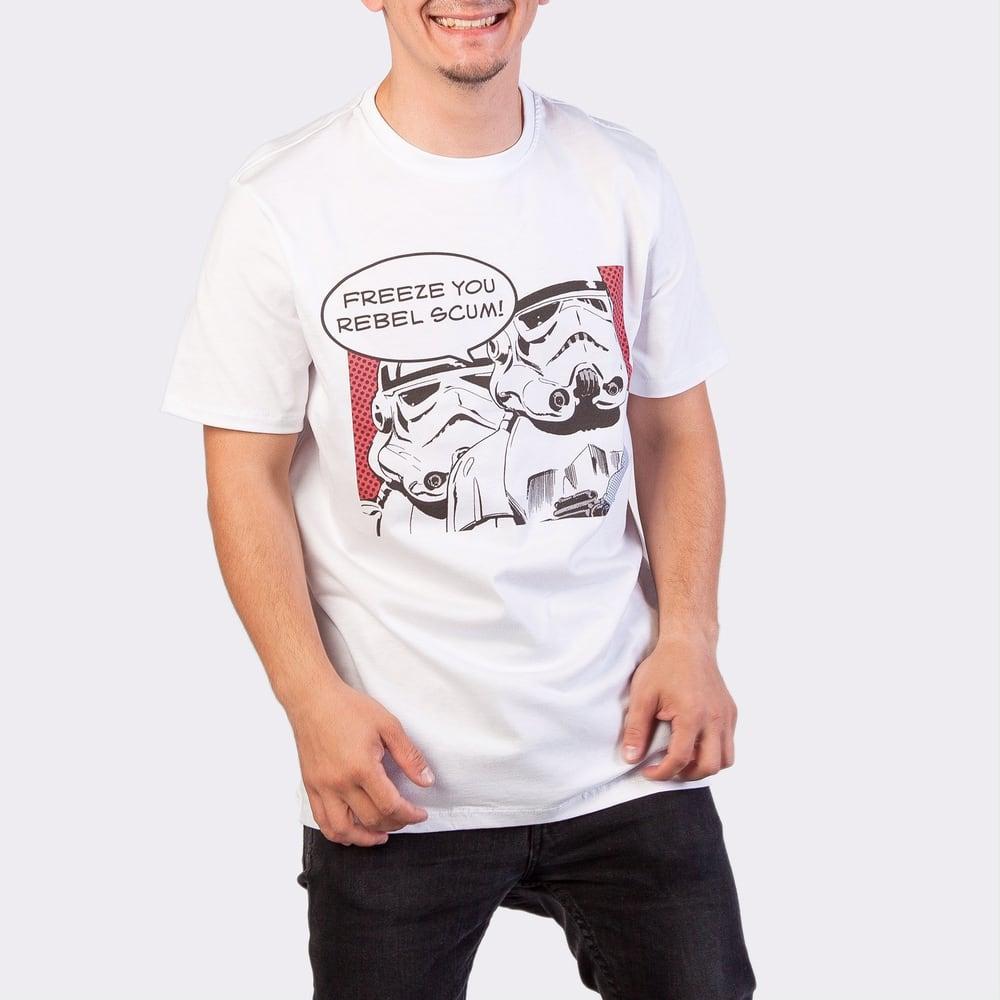 Футболка мужская Легендариум Звездные войны Штурмовики комикс белая XL фото