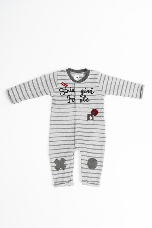 Купить 4.V214.00, Комбинезон для мальчика iDO, цв.серый, р-р 68, Трикотажные комбинезоны для новорожденных