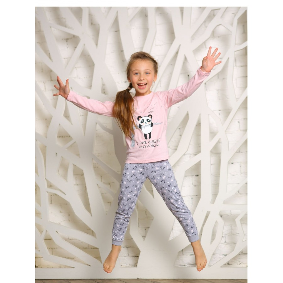 Купить 4145-01, Пижама детская KOTTONI, цв. розовый р.134,