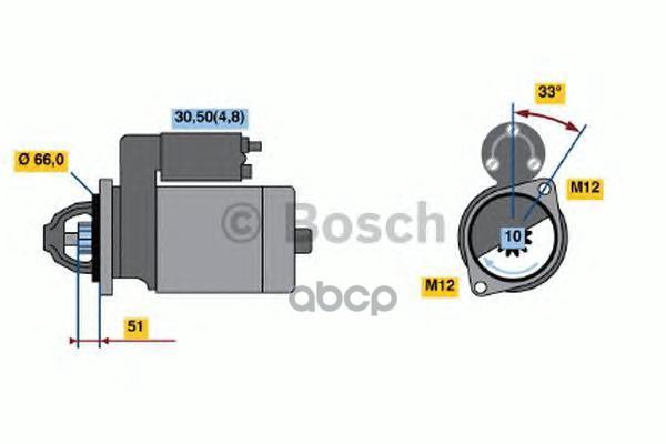 Стартер Bosch 0001108405