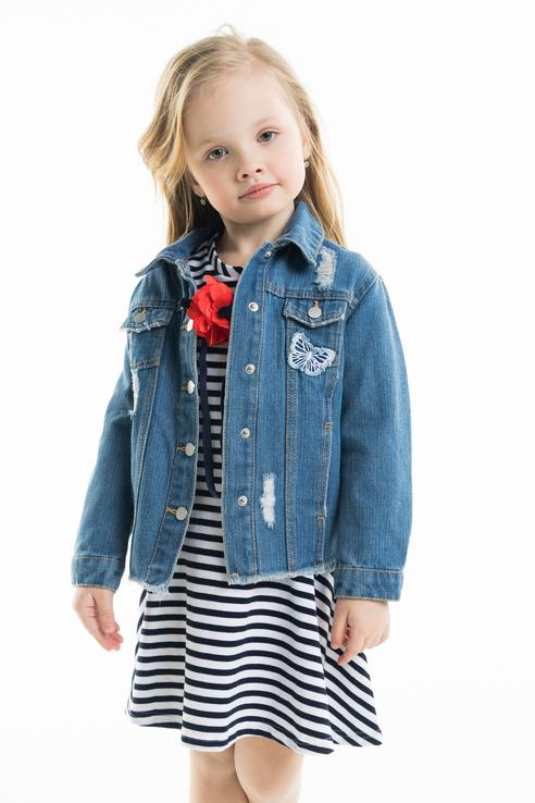 Джинсовая куртка Acoola 20220130124 цв.синий р.98 20220130124_синий