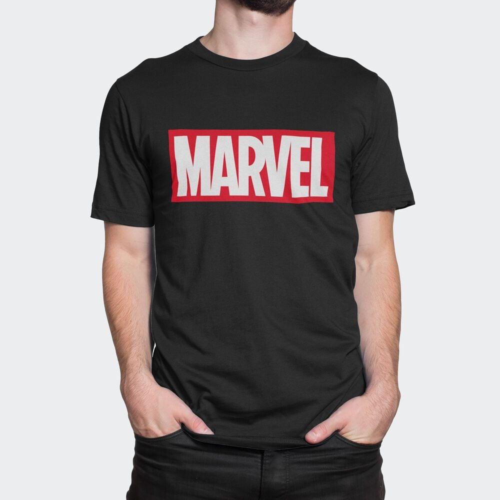 Футболка мужская Легендариум Марвел Логотип черная M фото