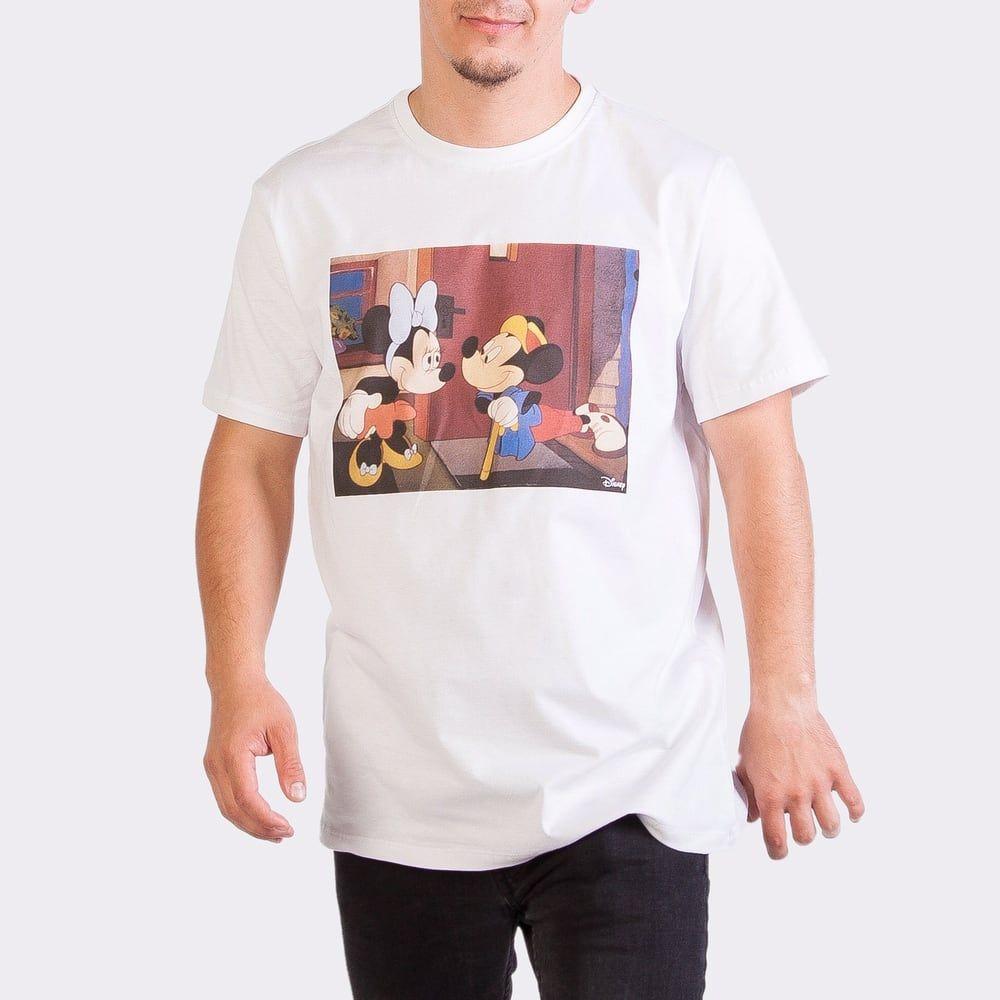 Футболка мужская Легендариум Микки Маус и Друзья Микки и Минни белая XS фото