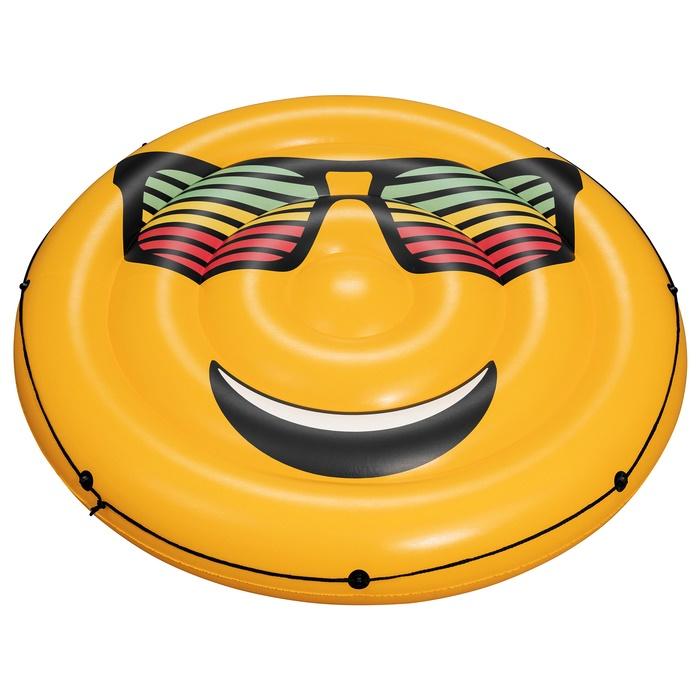 Купить Матрас для плавания Bestway Смайл, d=188 см, Надувные матрасы детские для плавания