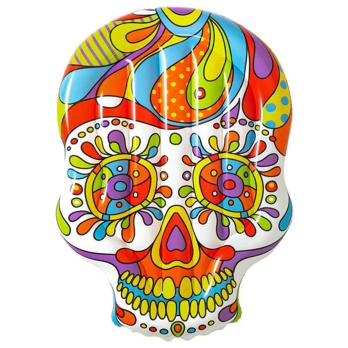Купить Матрас для плавания Bestway Fiesta Skull, 193 x 141 см, 43194, Надувные матрасы детские для плавания