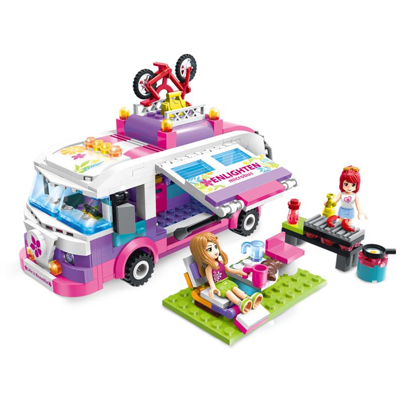 Купить Конструктор Brick Автобус с фигурками и аксессуарами, 319 деталей, Конструкторы пластмассовые