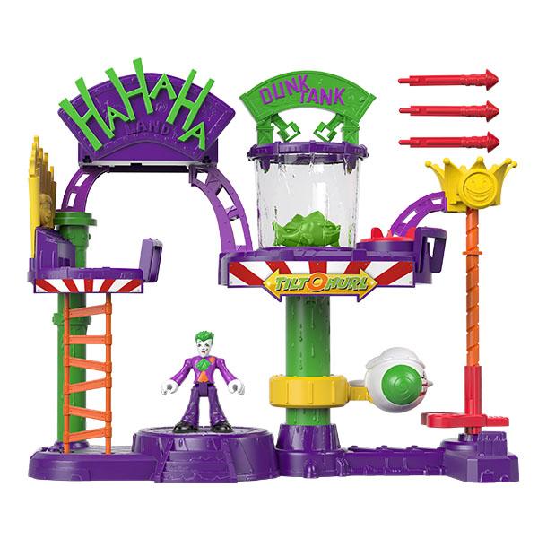 Игровой набор Mattel Imaginext Веселый дом Джокера с трамплином