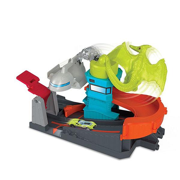 Игровой набор Mattel Хот Вилс Сити Монстры-злодеи Атака на птеродактиля