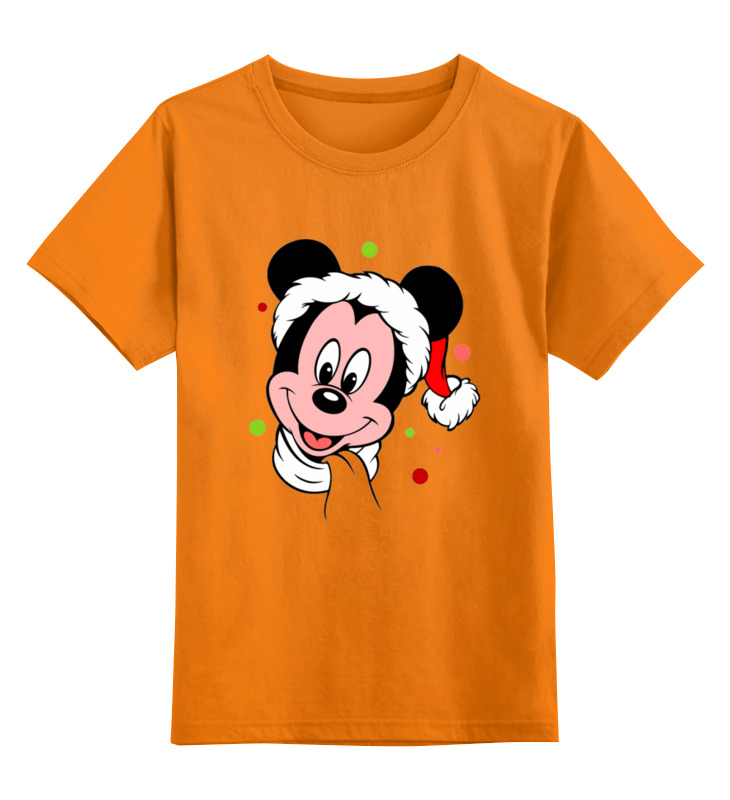 Купить 0000003062653, Детская футболка Printio Мышонок цв.оранжевый р.128,