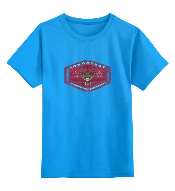 Купить 0000000643587, Детская футболка классическая Printio МГУ, р. 128,